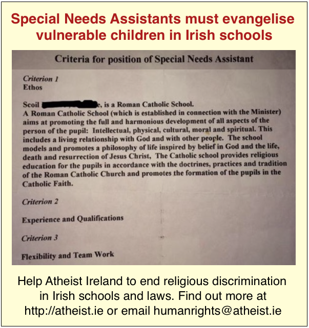 Special Needs Assistants evangelise